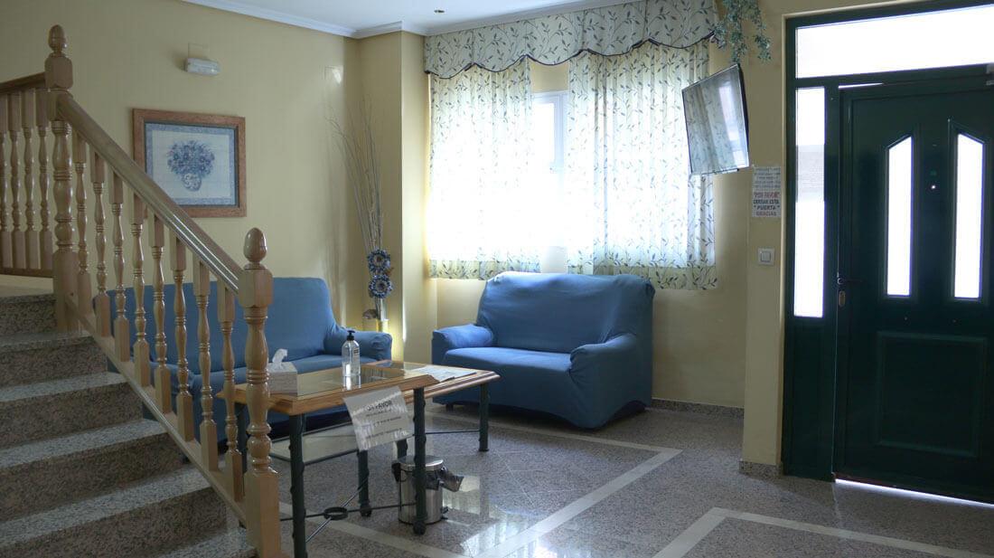 zona común - Entrada en Hostal Elvira en Tarancón