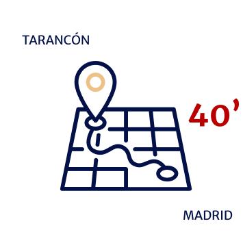 dstancia tarancon - madrid 40 minutos